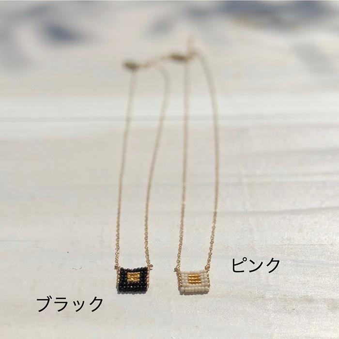 Kisongo Collection ブロックペンダントネックレス ブラック03