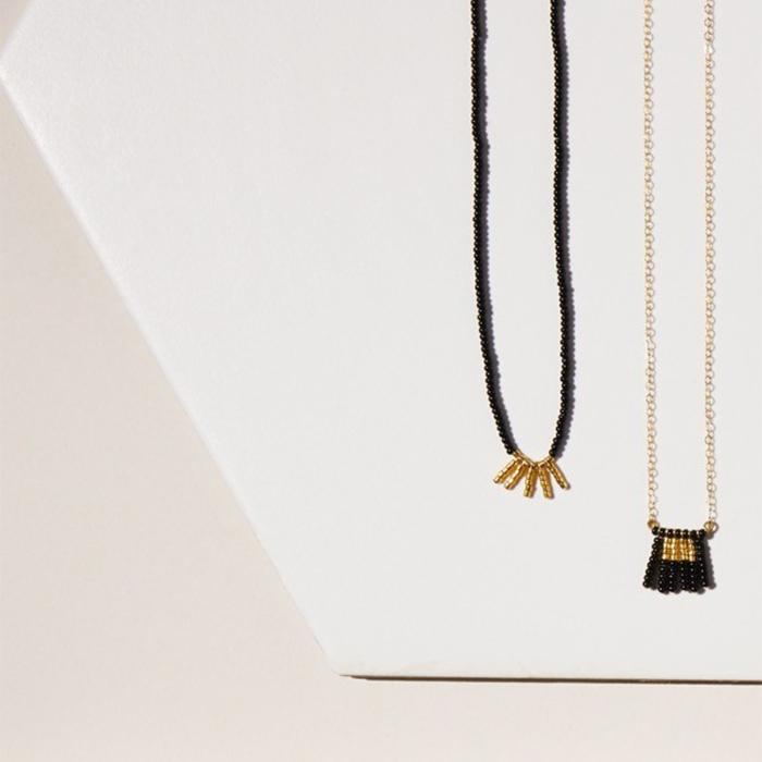 Kisongo Collection 5バーネックレス ブラック02