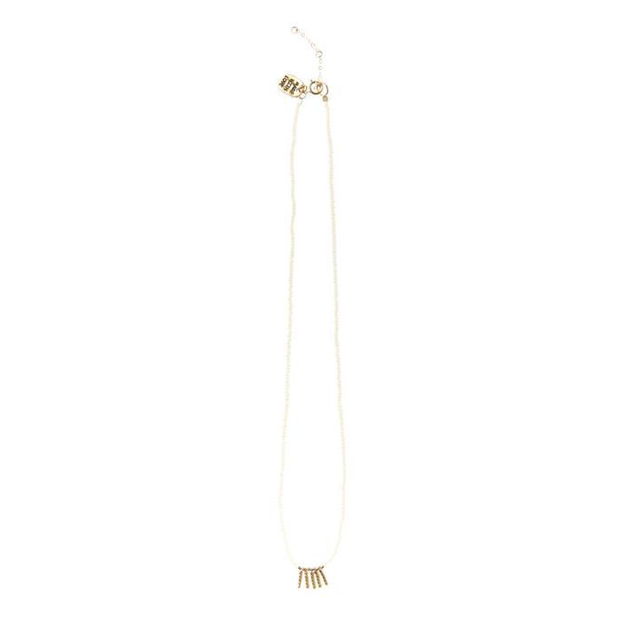 Kisongo Collection 5バーネックレス ホワイト01