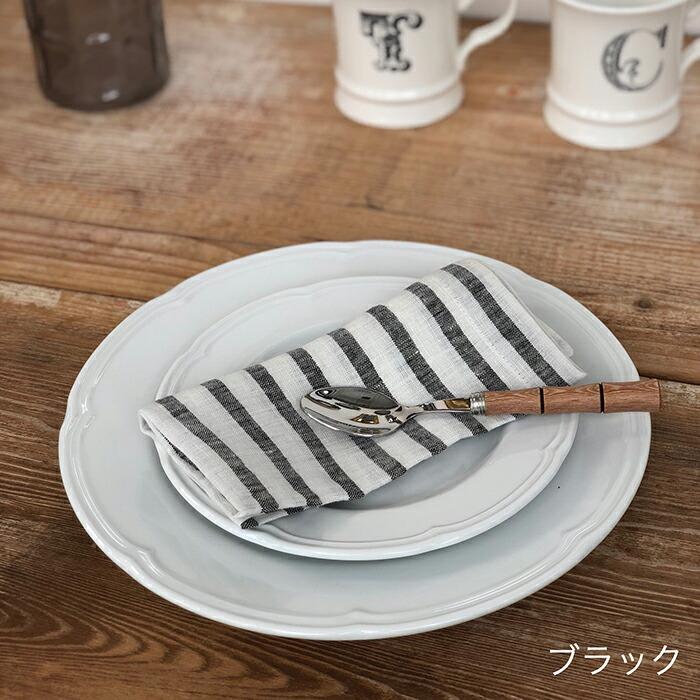 テーブルナプキン ストライプ / ブラック03
