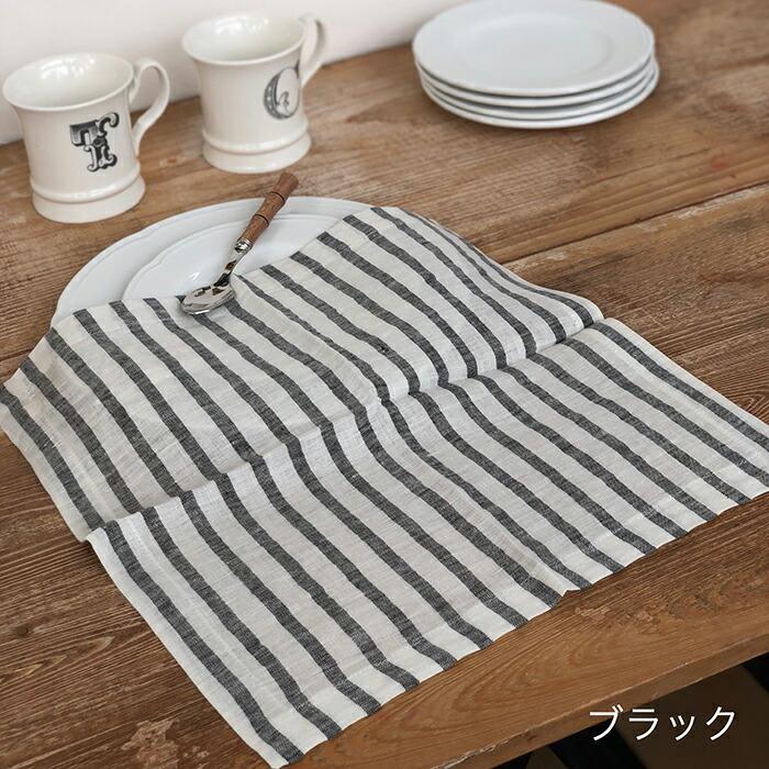テーブルナプキン ストライプ / ブラック05