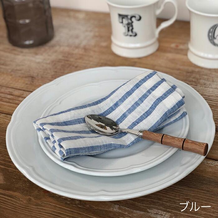 テーブルナプキン ストライプ / ブルー