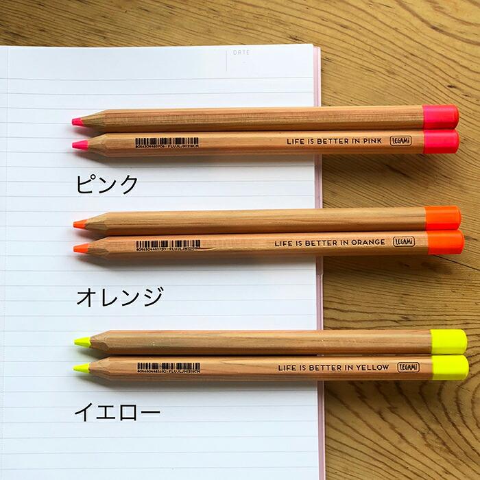 蛍光ペンシル 太軸えんぴつ イエロー02