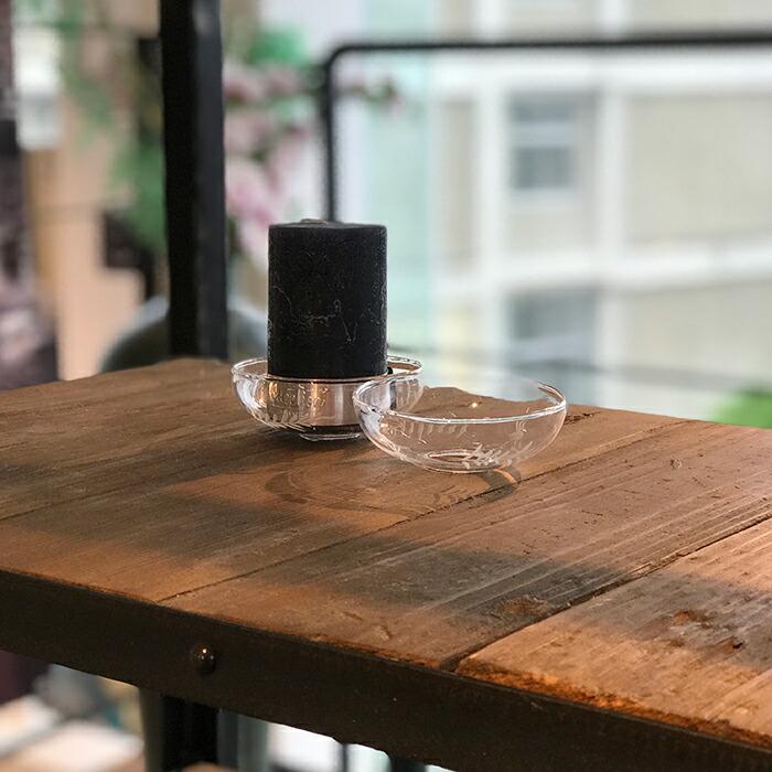 TINGLE ガラス キャンドルリング ロウ受け07
