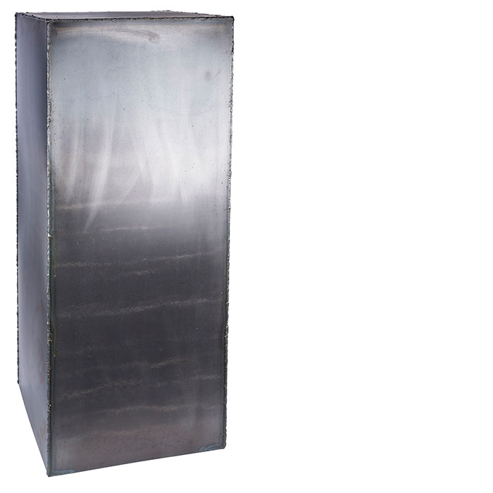 NOBA コラム 花台 ディスプレイ台 スチール Lサイズ ブラック