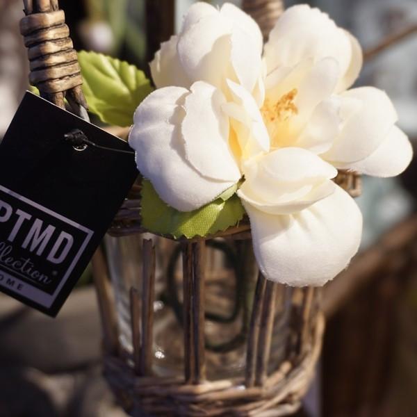 造花 シングルミニ クリームホワイト