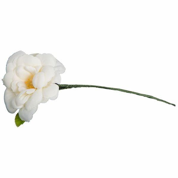 造花 シングルミニ クリームホワイト04