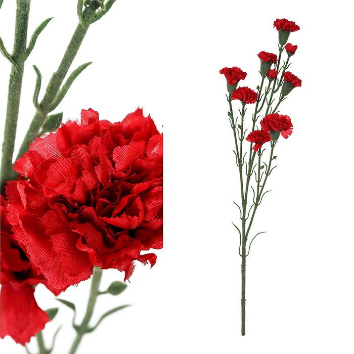 造花 カーネーション レッド