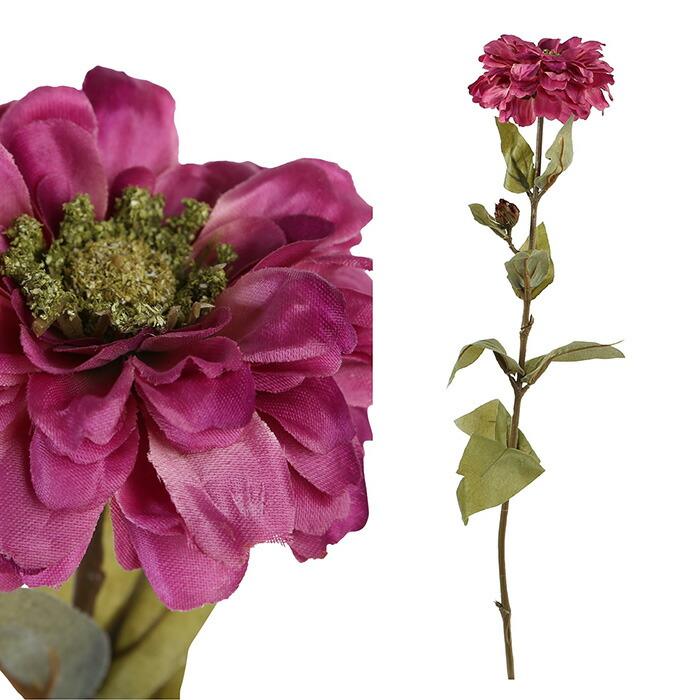 造花 ジニア ピンク