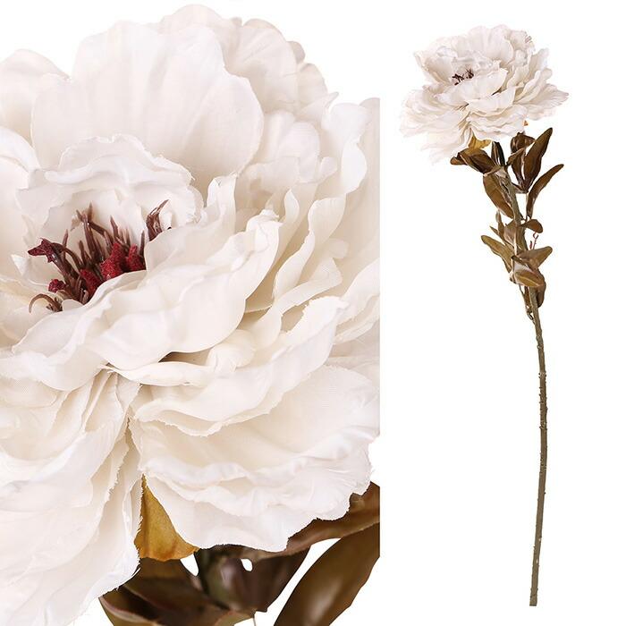 造花 ピオニー ホワイト