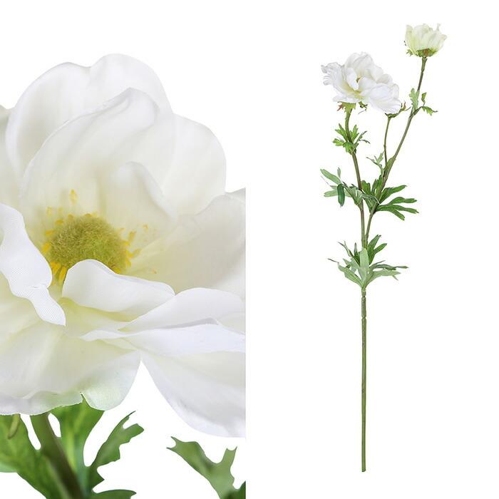 造花 アネモネ L ホワイト