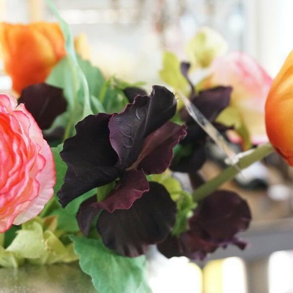 造花 ビオラ ブラック02