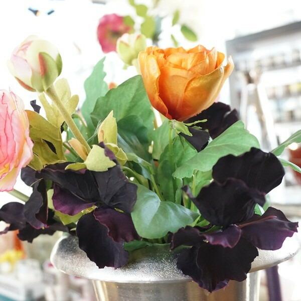 造花 ビオラ ブラック03