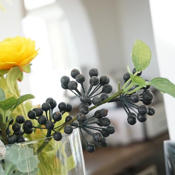 造花 ベリー M ブラック