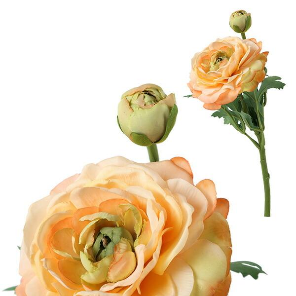 造花 ラナンキュラス ライトオレンジ
