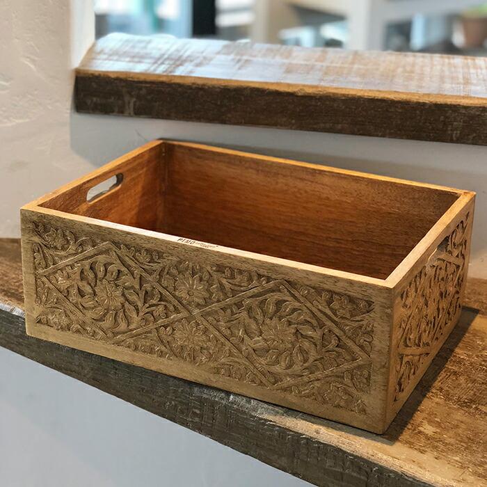 ボックス ウッド Lサイズ ブラウン01