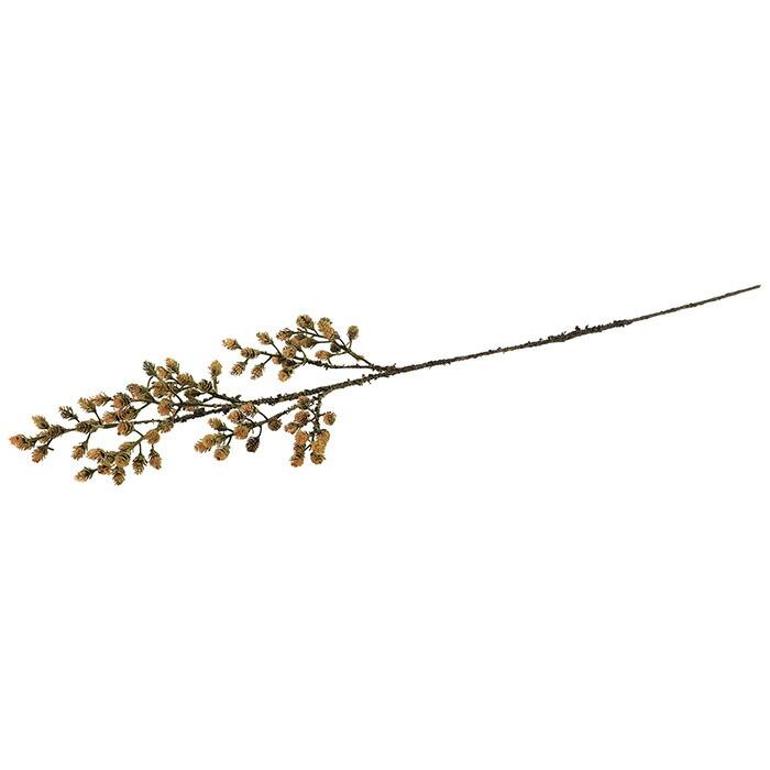造花 小枝葉付 ブラウンマツカサ