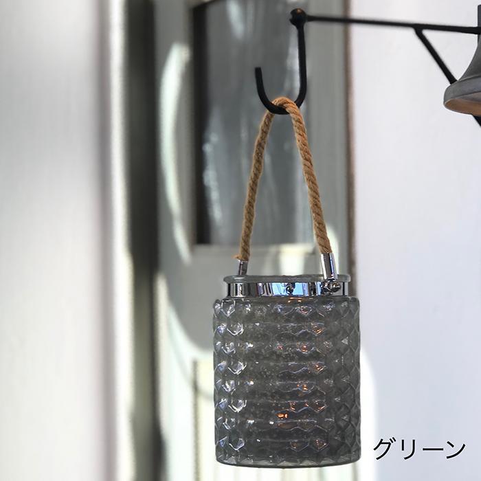 キャンドルスタンド ガラス 銀色 シルバー ロープ ハンドル 持ち手08