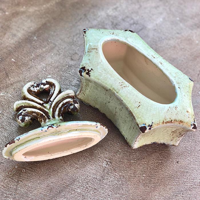 小物入れ壺緑グリーンフェルメール04