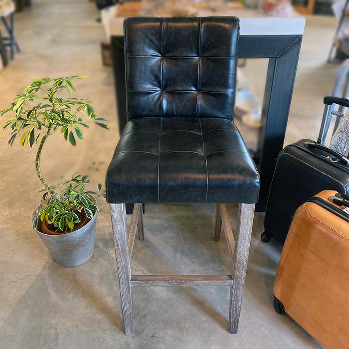 椅子チェア黒ブラックレザー02