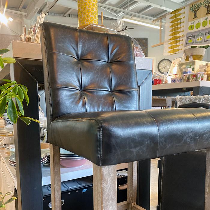 椅子チェア黒ブラックレザー03