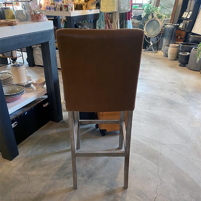 椅子 茶 革張り03