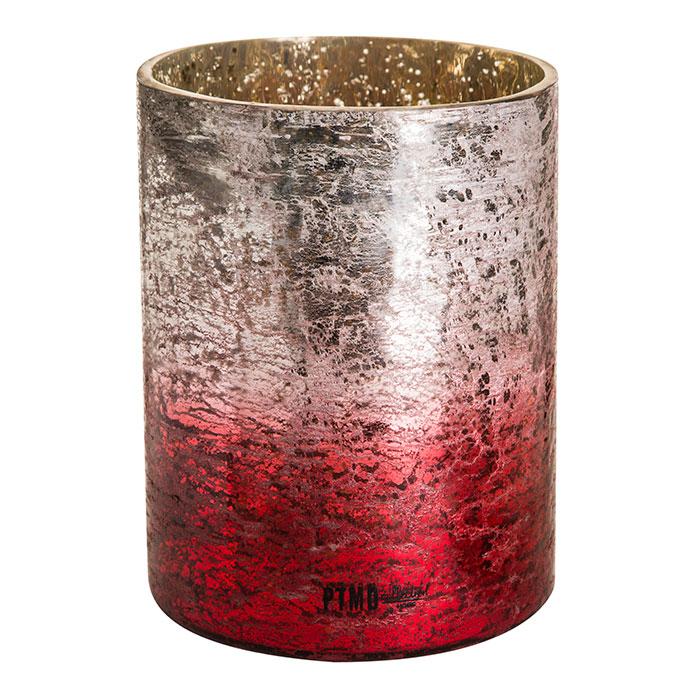 BLITZEN ガラスストレートティーライトホルダーL/レッド