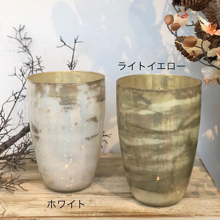 キャンドルスタンド ガラス Lサイズ ピンク アンティークスタイル02