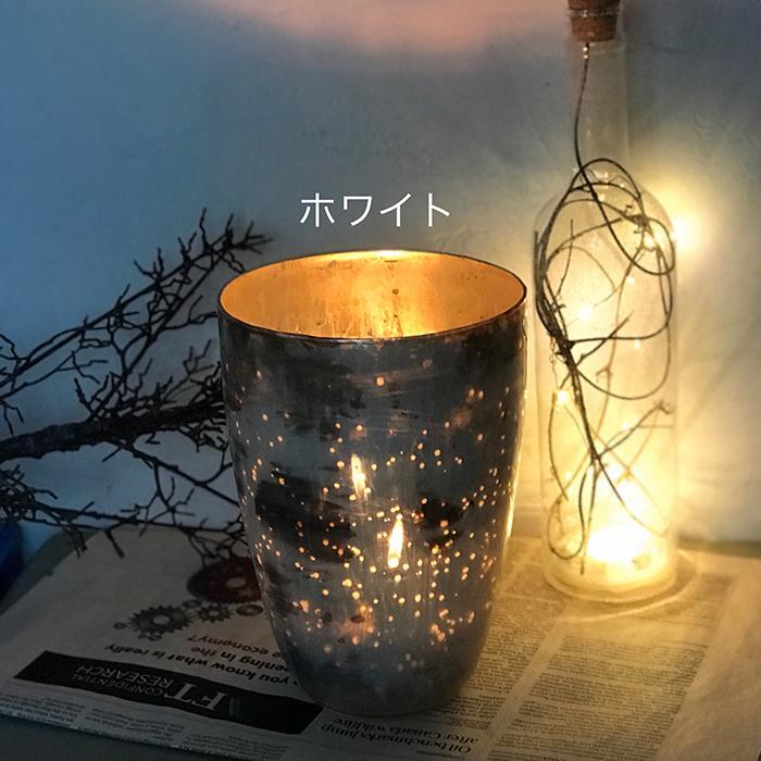 キャンドルスタンド ガラス Lサイズ ピンク アンティークスタイル04