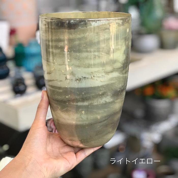 キャンドルスタンド ガラス Lサイズ ピンク アンティークスタイル05