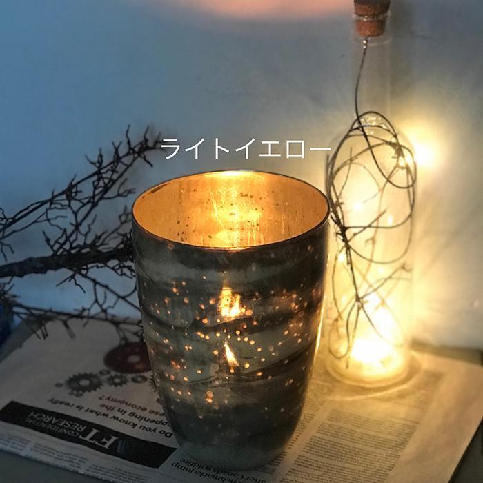 キャンドルスタンド ガラス Lサイズ ピンク アンティークスタイル06