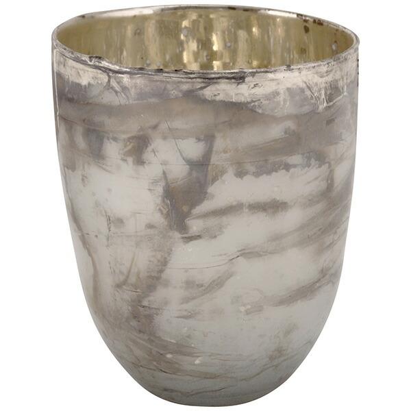 キャンドルスタンド ガラス Sサイズ 白 ホワイト アンティークスタイル