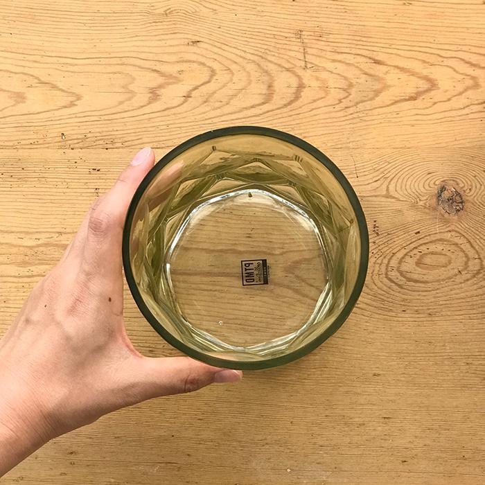 キャンドルスタンドガラスSサイズ緑グリーンランタンケース04