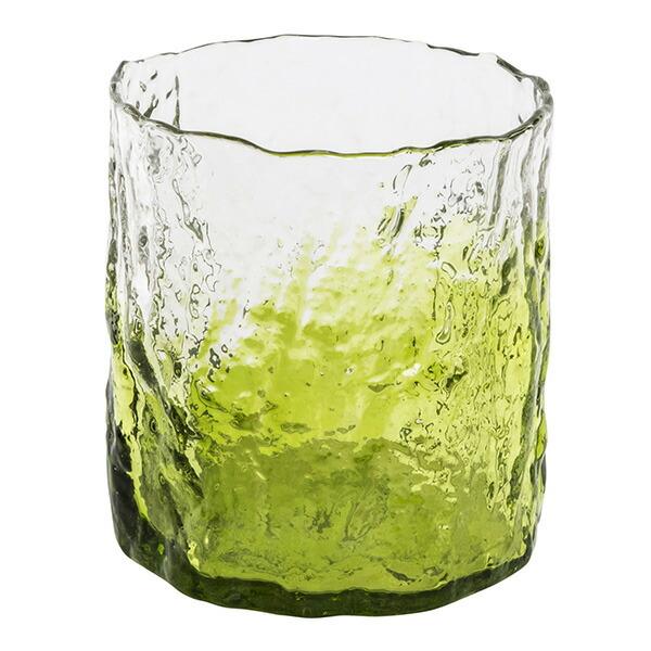 花びん 花瓶 花器 CARIBE グリーン Mサイズ ガラス