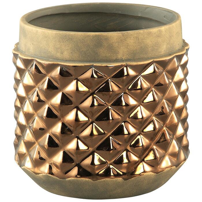 花びん 花瓶 花器 CROCK セラミック Mサイズ ゴールド