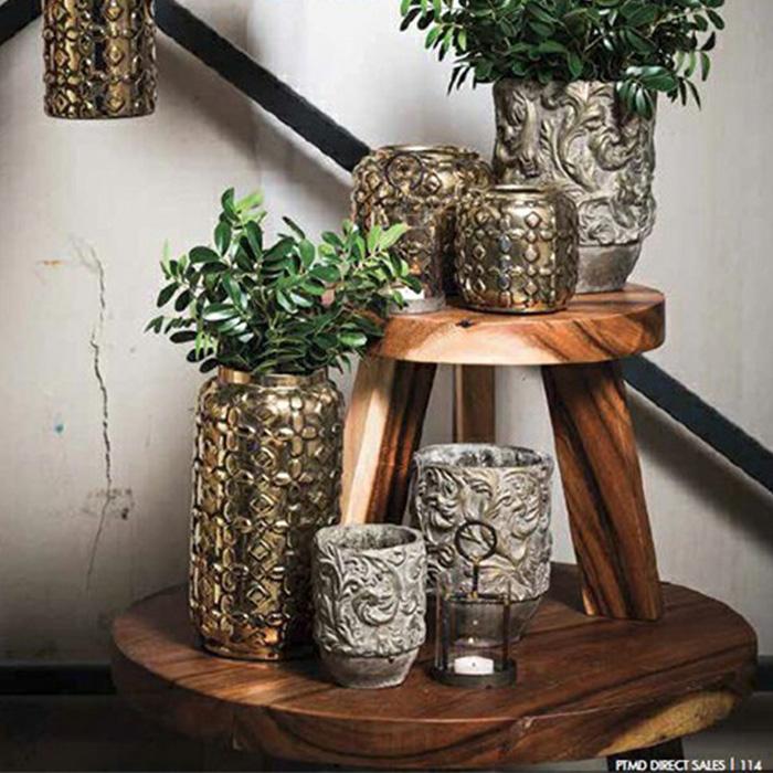 花びん 花瓶 花器 CHIQUEGLAM ゴールド