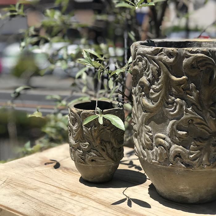 花びん 花瓶 花器 CHIQUEMATT セメント XSサイズ01