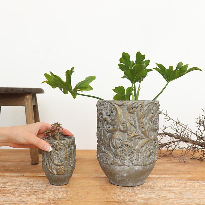 花びん 花瓶 花器 CHIQUEMATT セメント XSサイズ03