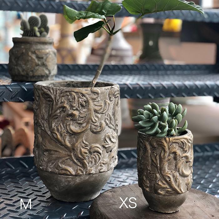 花びん 花瓶 花器 CHIQUEMATT セメント XSサイズ04