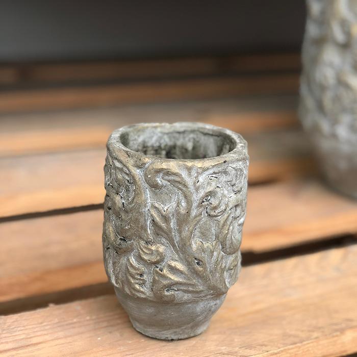 花びん 花瓶 花器 CHIQUEMATT セメント XSサイズ06