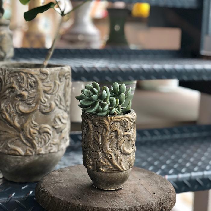 花びん 花瓶 花器 CHIQUEMATT セメント XSサイズ08