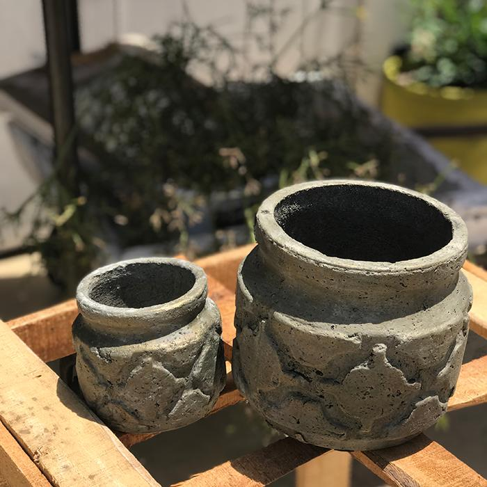 花びん 花瓶 花器 COIZA セメント Sサイズ ブラウン&ゴールド