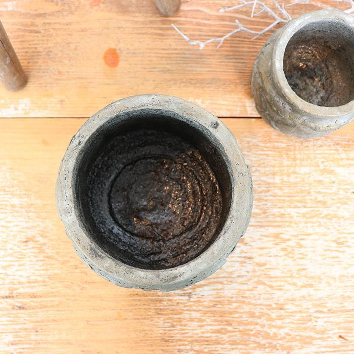 花びん 花瓶 花器 COIZA セメント Sサイズ ブラウン&ゴールド04