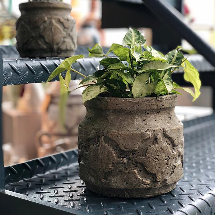 花びん 花瓶 花器 COIZA セメント Sサイズ ブラウン&ゴールド06