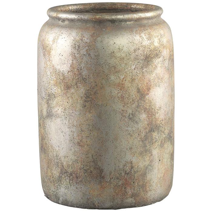 花びん 花瓶 花器 FINLEY セメント Mサイズ ブラウン