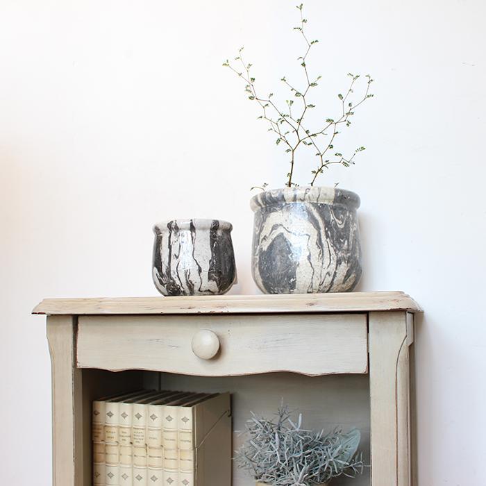 花びん 花瓶 花器 MONO セラミック Mサイズ マーブルブラック