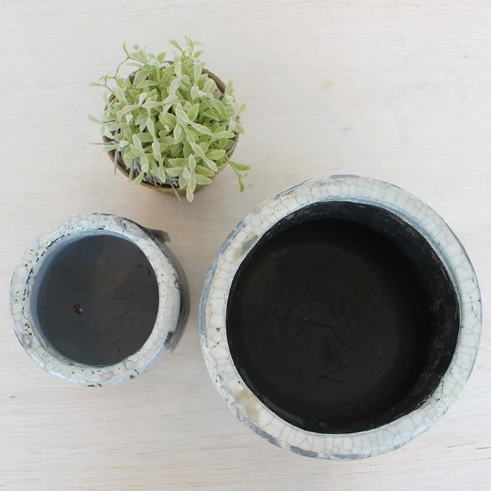 花びん 花瓶 花器 MONO セラミック Mサイズ マーブルブラック02