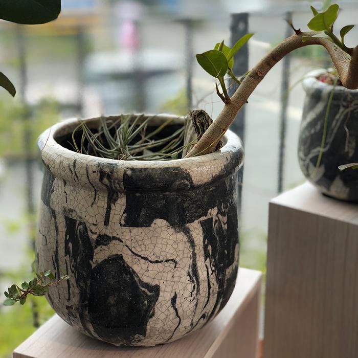 花びん 花瓶 花器 MONO セラミック Mサイズ マーブルブラック04