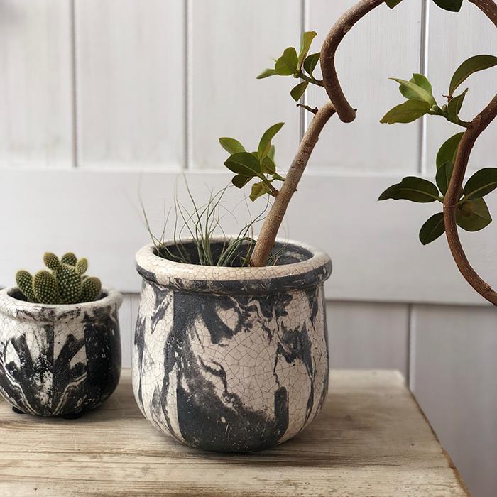 花びん 花瓶 花器 MONO セラミック Mサイズ マーブルブラック05