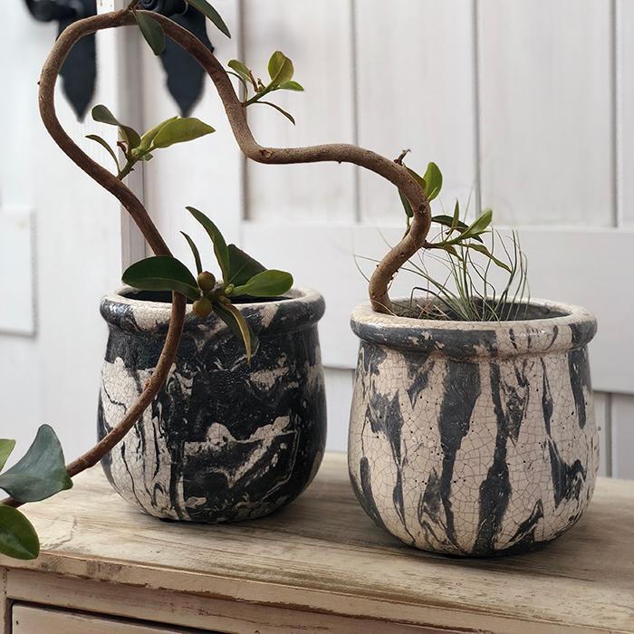花びん 花瓶 花器 MONO セラミック Mサイズ マーブルブラック06